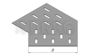 Донное основание угла горизонтального 45° кабельроста ДЛЛК-У45Г