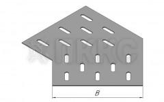 Донное основание угла горизонтального 30° кабельроста ДЛЛК-У30Г