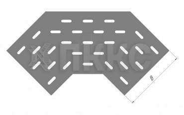 Донное основание угла горизонтального 60° кабельроста ДЛЛК-У60Г