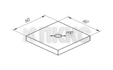 Гайка монтажная S-образного профиля HTSN1-M10