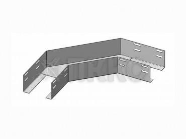 Лотки угловые для поворота трассы на 90° в горизонтальной плоскости перфорированные КГ (высота борта 100мм)