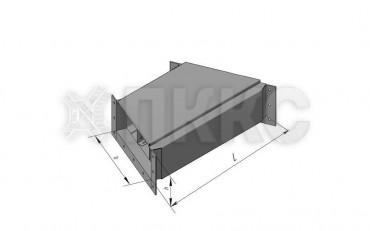 Короб кабельный блочный трехканальный угловой горизонтальный поворота трассы на угол 45° ККБ-3УГП