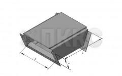 Короб кабельный блочный одноканальный угловой вертикальный поворота трассы на угол 30° вниз ККБ-УНП