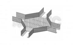 Лотки крестообразные перфорированные  КМ (высота борта 65мм)