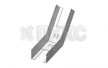 Лотки для поворота трассы вверх на 45° перфорированные  КП (высота борта 80мм)