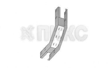 Лотки для поворота трассы вверх на 90° перфорированные КП (высота борта 50 мм)