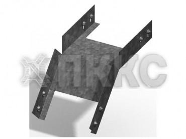 Лотки для поворота трассы вниз на 45° неперфорированные (глухие) КСГ (высота борта 50 мм)