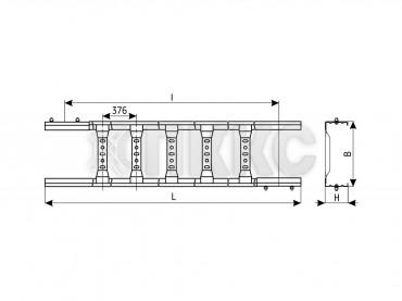 Секции прямые НЛ20х5-НЛ60х5