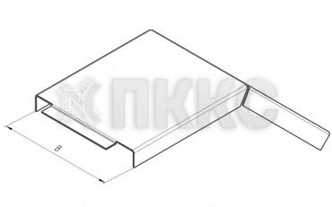 Крышка лотка углового вертикального внешнего на 45° НЛК-У45Н