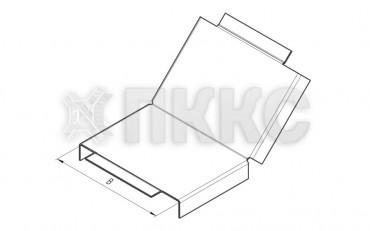Крышка лотка углового вертикального внутреннего на 45° НЛК-У45В