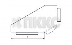 Крышка лотка углового горизонтального поворота трассы на 90° НЛК-У90