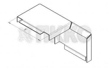 Крышка лотка углового вертикального внешнего на 90° НЛК-У90Н
