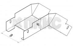 Лоток угловой вертикальный внешний на 45° НЛП-У45Н
