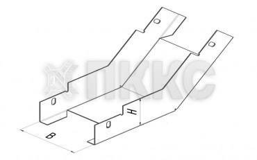 Лоток угловой вертикальный внутренний на 45° НЛП-У45В