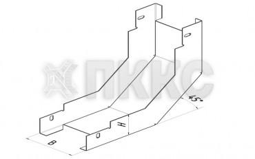 Лоток угловой вертикальный внутренний на 90° НЛП-У90В