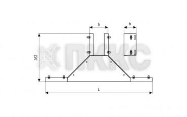 Отвод боковой неперфорированный (глухой) ОБЛГ (высота борта 100мм)