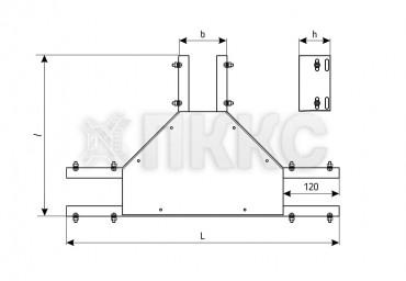 Лотки тройниковые неперфорированные (глухие) ОТГ (высота борта 50 мм)