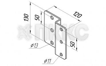 Пластина HTIP2 для крепления консолей HTI-C1, HTI-C2