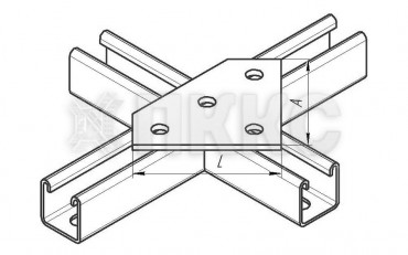 Пластина 4 отверстия ССТ 606