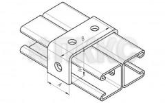 Прямоугольная скоба для профиля СТ41х41 ССТ 632