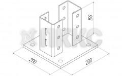 Основание профиля S-образного HTSB 70х150